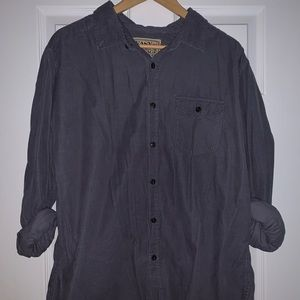 Vintage Purple Corduroy Button-Up Shirt